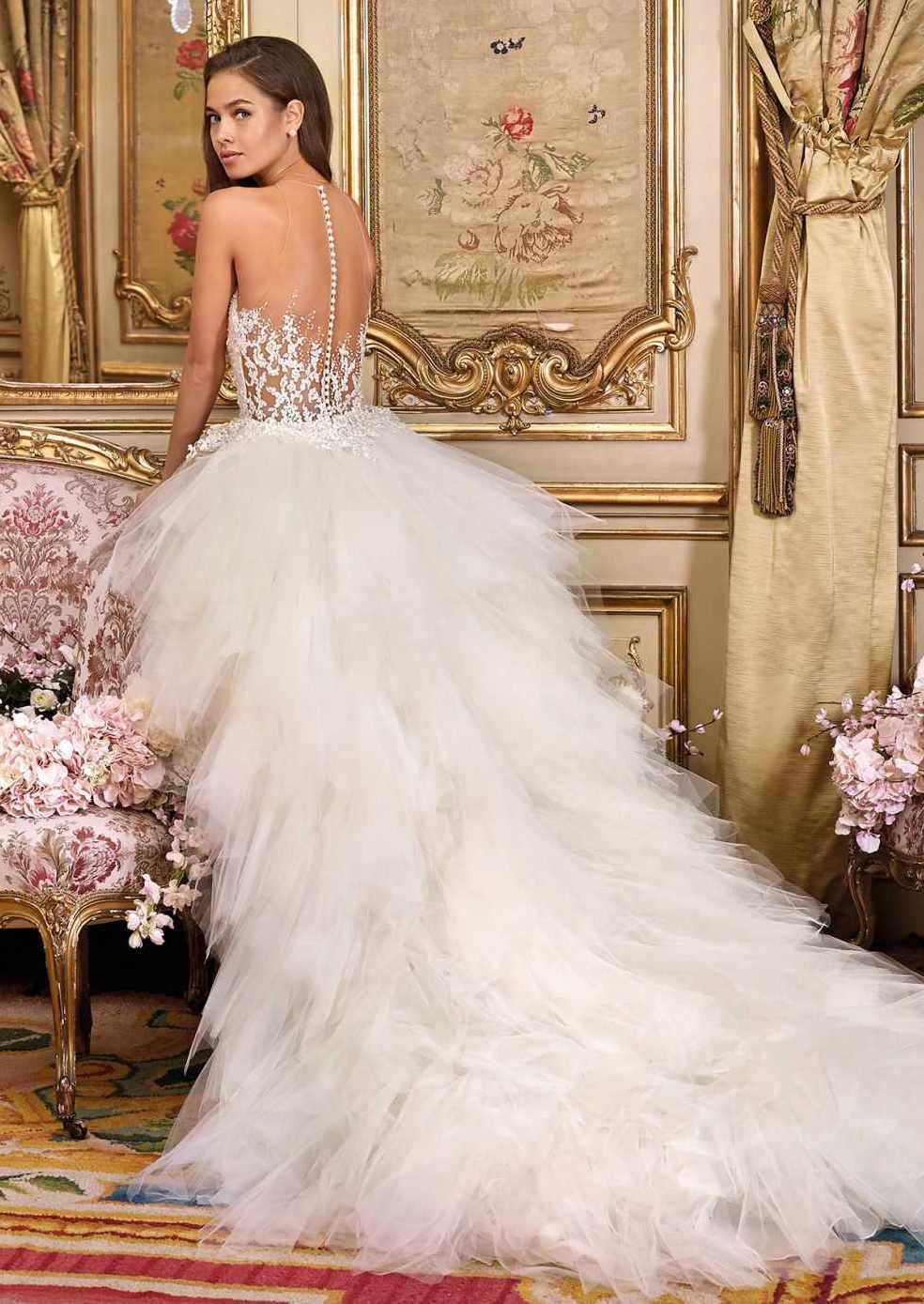 Demetrios Platinum Wedding Dress DP371 + TR#2108