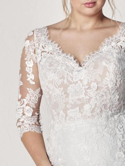 Pronovias Plus Hochzeitskleid Evelyn plus#9827