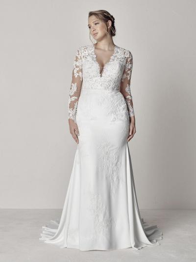Pronovias Plus Trouwjurk Eva plus#9833