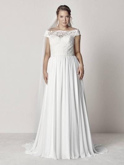 Pronovias Plus Trouwjurk Evita plus#9835