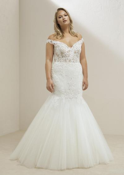 Pronovias Plus Trouwjurk Miri plus#9854