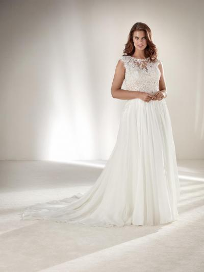 Pronovias Plus Wedding Dress Atlantis-Plus (niet leverbaar)#9811
